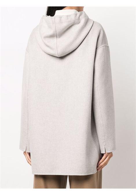 Cappotto con zip Hoodie in grigio chiaro - donna 'S MAXMARA | 90860113600008