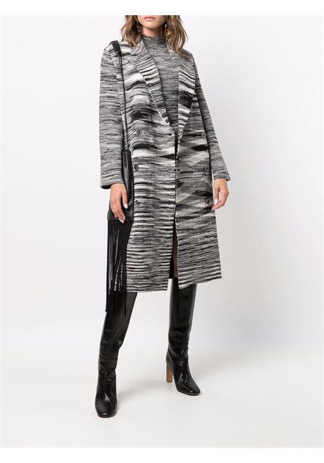 Cappotto a righe in nero e bianco - donna MISSONI | MDA00132BK00VVF901V