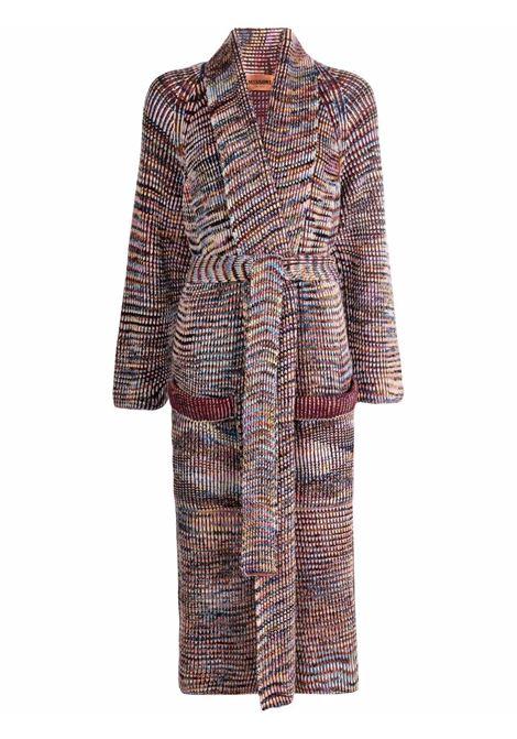 Cappotto a righe in viola e multicolore - donna MISSONI | MDA00152BK00VTSM65F