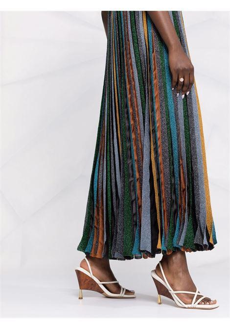 Multicolored glitter-detail pleated stripe dress - women  MISSONI | MDG01087BK00Z5L904K