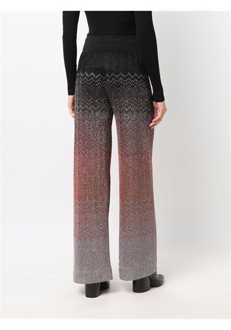 Pantaloni dritti con motivo a zigzag multicolore -donna MISSONI | MDI00263BR00FNSM63S