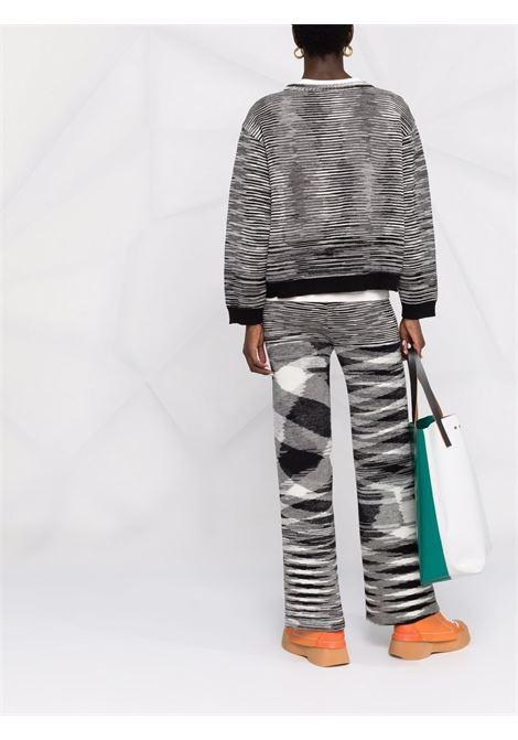 Pantaloni dritti con motivo a zigzag in bianco e nero -donna MISSONI | MDI00328BK00W2F901W