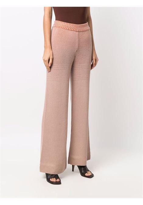 Orange knitted flared trousers - women  MISSONI | MDI00363BK00ZHS00K0