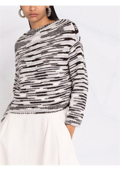 Maglione a righe in bianco e nero - donna MISSONI | MDN00572BK00VYF901J