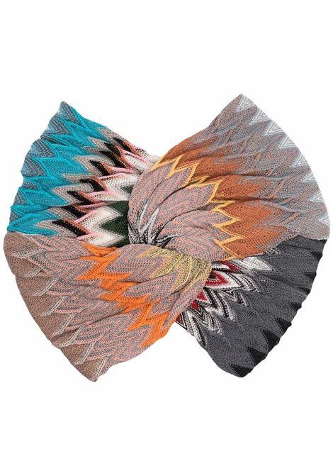 Multicolored zigzag twist-knit headband - women MISSONI | MDS00385BR00GJSM72F