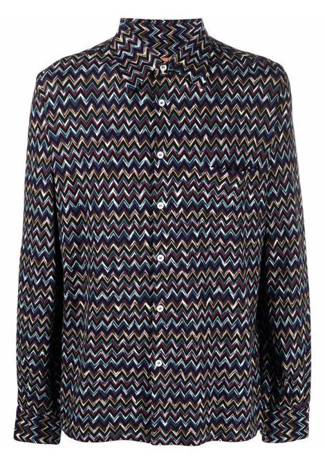 Camicia con motivo zig-zag multicolore - uomo MISSONI | MUJ00017BR00GNSM70L
