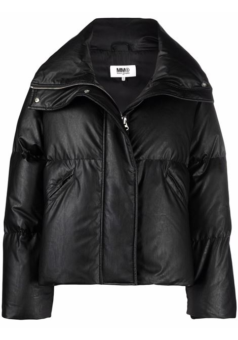 Black cropped down puffer jacket - women MM6 MAISON MARGIELA | S52AM0176S53057900