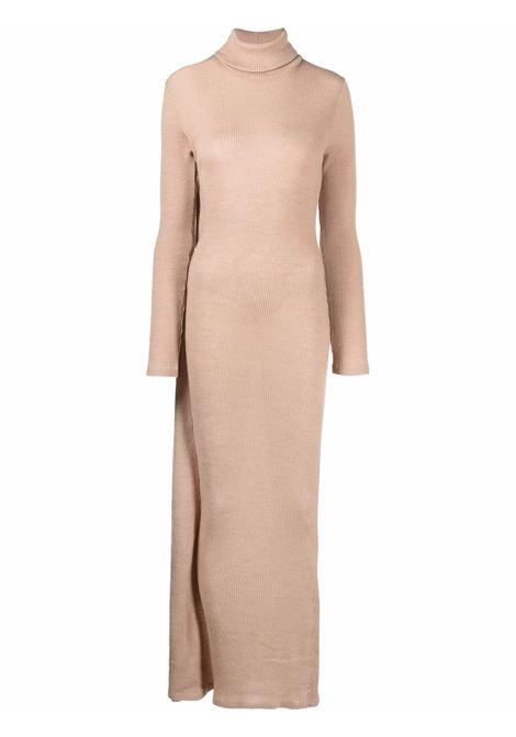 Roll neck knitted maxi dress beige - women MM6 MAISON MARGIELA | S52CT0643S23735121
