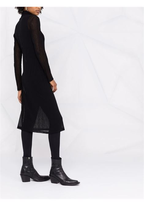 Logo-print midi bodycon dress black - women MM6 MAISON MARGIELA | S52CT0652S23954900
