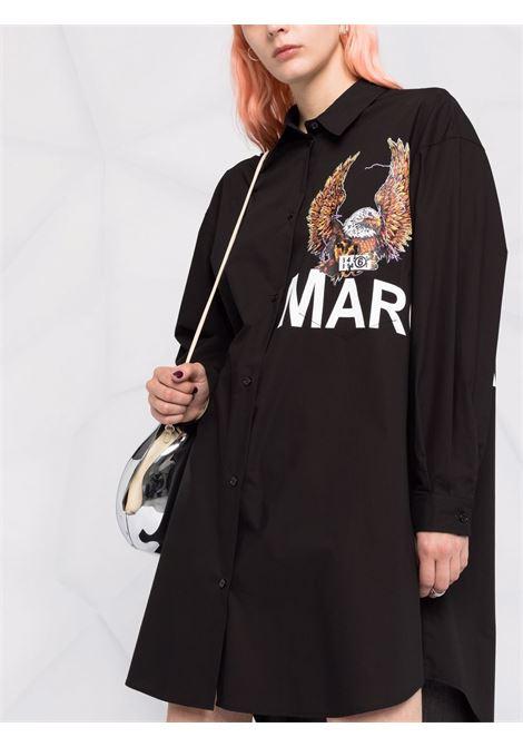 Long-sleeve cotton shirt dress in black - women  MM6 MAISON MARGIELA | S52CT0653S47294900