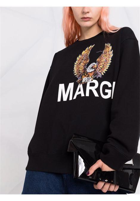 Black eagle-motif long-sleeved sweatshirt - women MM6 MAISON MARGIELA | S52GU0141S25337900
