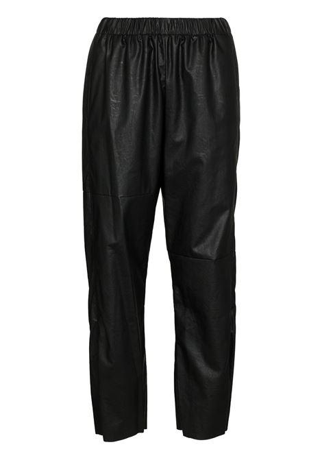 Faux leather track trousers black - women MM6 MAISON MARGIELA | S52KA0282S53057900