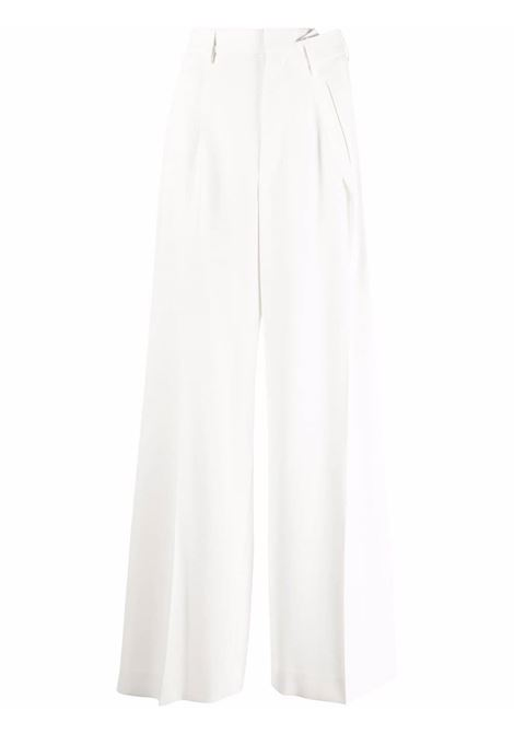 White asymmetric-pleat wide-leg trousers - women MM6 MAISON MARGIELA | S52KA0326S53960101