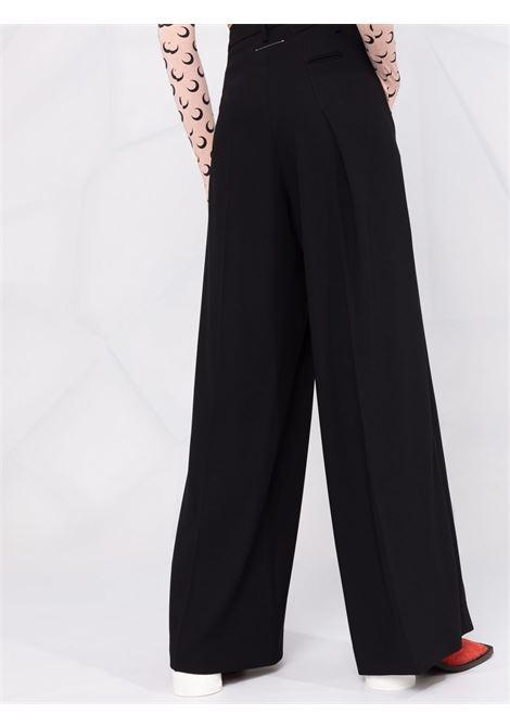 Black asymmetric-pleat wide-leg trousers - women MM6 MAISON MARGIELA | S52KA0326S53960900