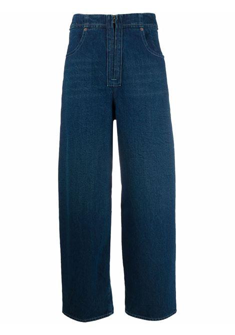 Zip-fastening straight-leg jeans in blue -women  MM6 MAISON MARGIELA | S52LA0149S30589969