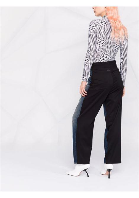 Two-tone high-waist jeans blue - women  MM6 MAISON MARGIELA | S52LA0152STZ019961