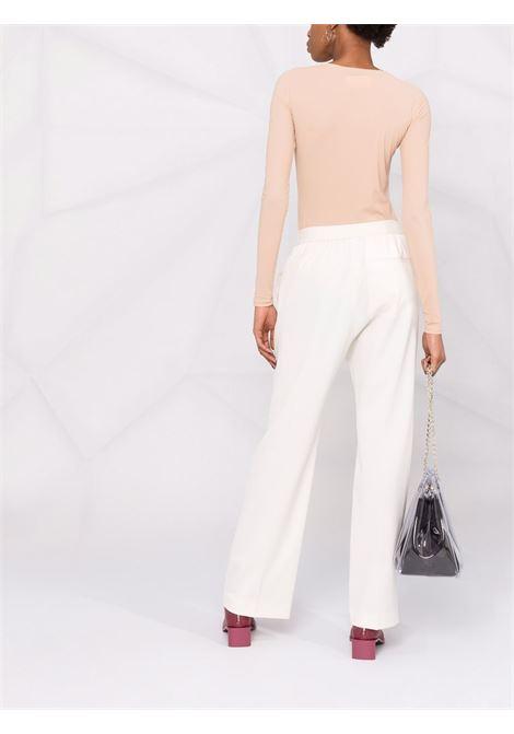 Long-sleeved stretch-fit bodysuit nude- women  MM6 MAISON MARGIELA | S52NA0043S20518121