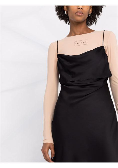 Black midi dress with long-sleeved top - women  MM6 MAISON MARGIELA | S62CT0143STZ030961