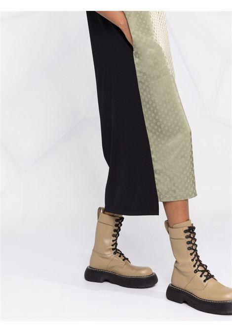 Black and khaki-green polka dot-print T-shirt dress - women  MM6 MAISON MARGIELA | S62CT0161STZ037961