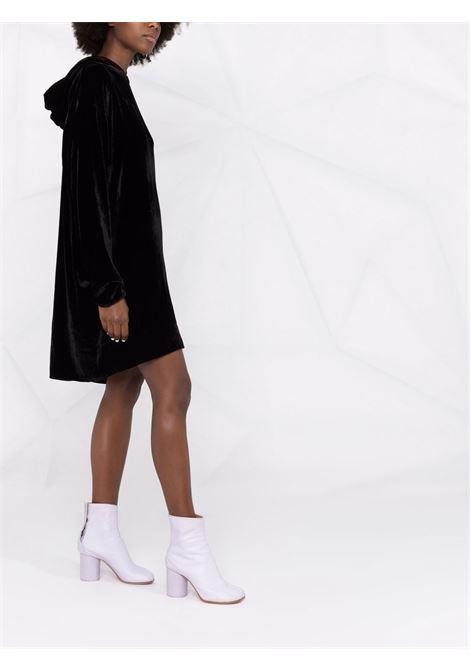 Embroidered logo velvet dress in black - women  MM6 MAISON MARGIELA | S62CT0165S53086900