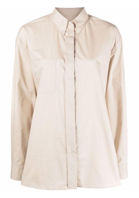Beige button-down fitted shirt - women  MM6 MAISON MARGIELA | S62DL0048S47294114