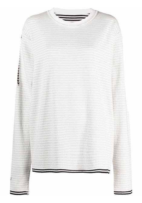 T-shirt a maniche lunghe con design reversibile in bianco - donna MM6 MAISON MARGIELA | S62GD0097S23996001F