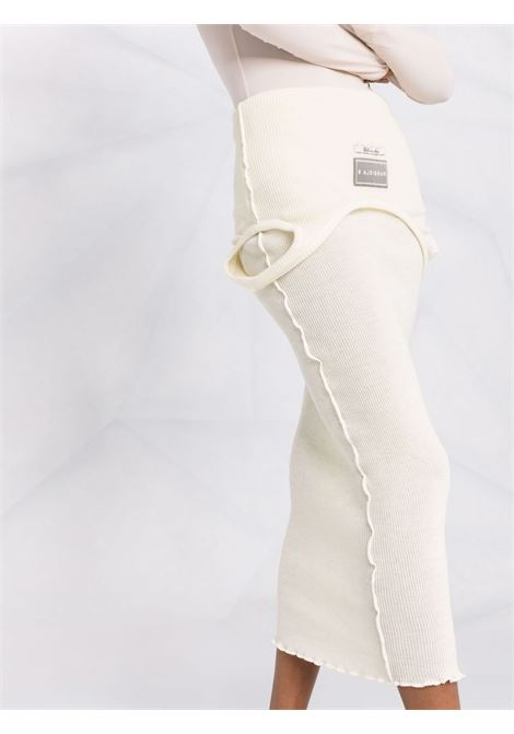 Off-white foldover knitted maxi skirt - women  MM6 MAISON MARGIELA | S62MA0067S23735102