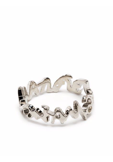Ring with logo silver- women MM6 MAISON MARGIELA | SM7UQ0004SV0045951