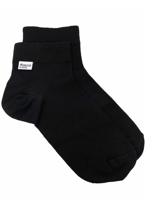 Black logo-patch socks - men  MONCLER 1952 | 3G00001M1131999