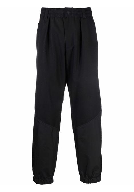 Black straight-leg trousers - men  MONCLER GRENOBLE | 2A0000257316999