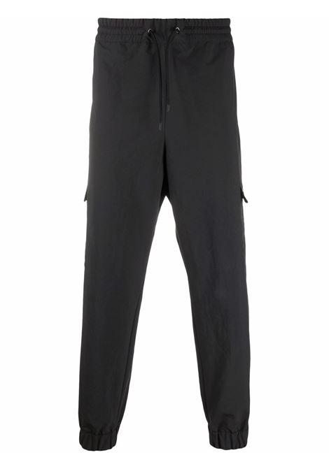 Pantaloni cargo con coulisse in nero - uomo MONCLER X HIROSHI FUJIWARA | 2A000055499N999