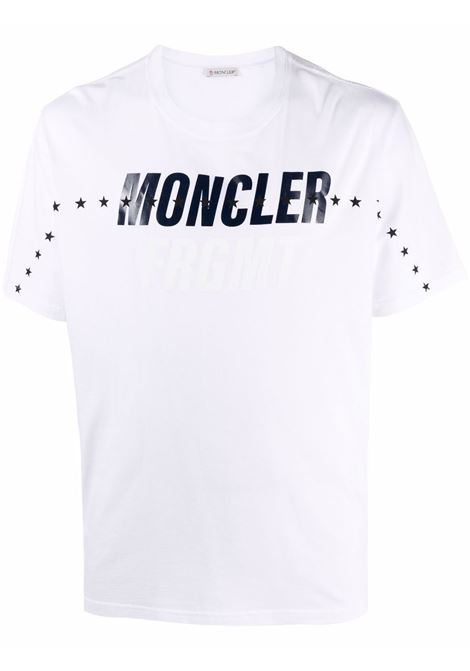 T-shirt con stampa in bianco - uomo MONCLER X HIROSHI FUJIWARA   8C000038392B001