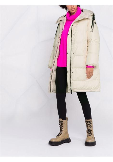 Beige reversible logo-print padded coat - women  MONCLER   1C00035595JG035