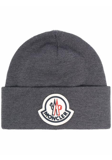 Grey logo-embellished beanie - men  MONCLER | 3B00051A9526998
