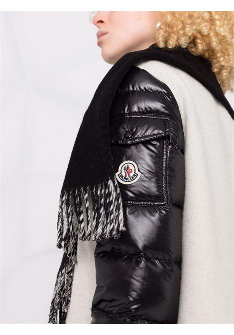 Black and white Mantella padded-sleeve coat - women MONCLER   3G00028A0145034