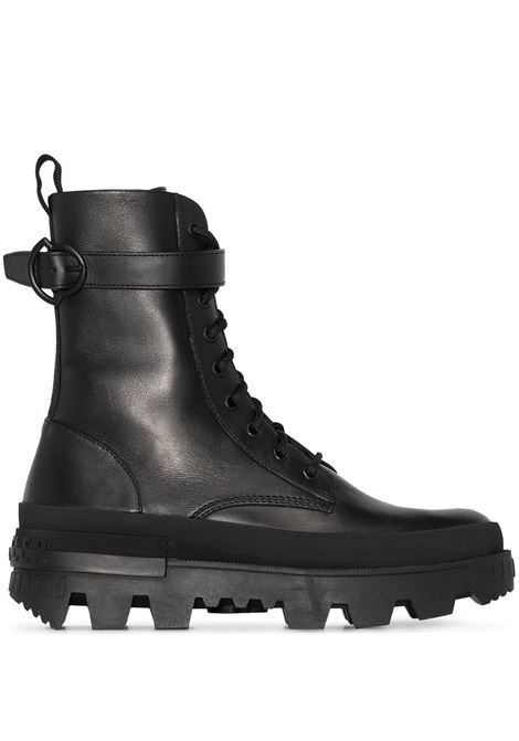 Black Carinne lace-up ankle boots - women  MONCLER   4F7150002SYM999