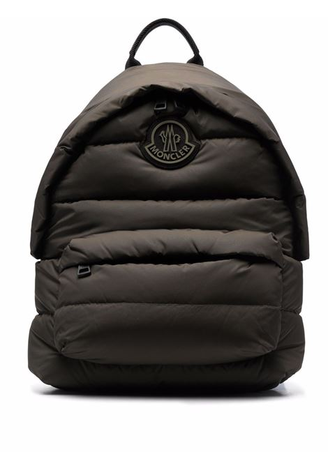 Legere padded down backpack in military green - men  MONCLER | 5A5040002SZS833