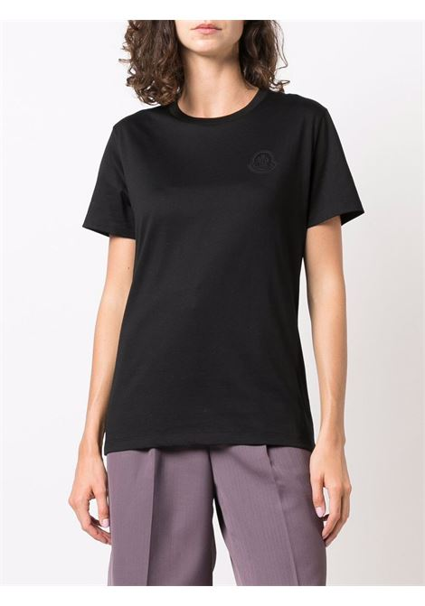 T-shirt con logo in nero - donna MONCLER | 8C00009829FB999