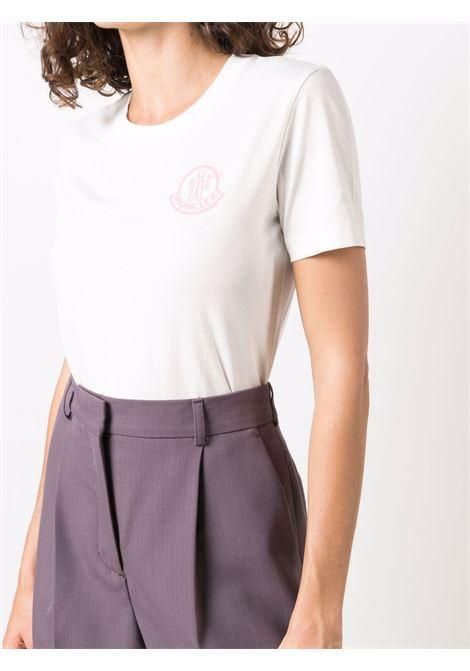 T-shirt con logo in bianco - donna MONCLER | 8C00016829FB033
