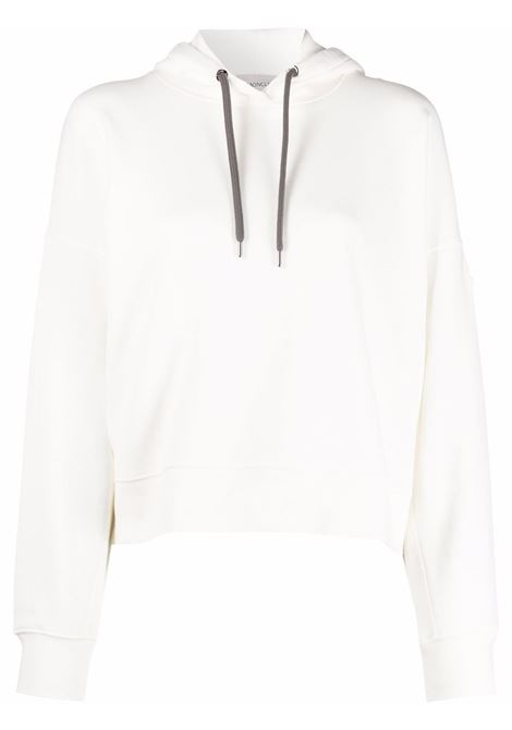 Felpa con stampa in bianco - donna MONCLER | 8G00029809LC033