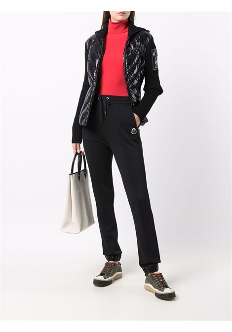 Cardigan con zip in nero - donna MONCLER | 9B00018M1131999