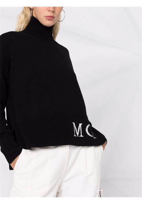 Maglione a collo alto in nero e bianco - donna MONCLER | 9F00012A9564999