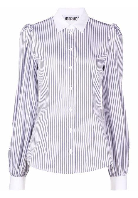 Camicia a righe in bianco - donna MOSCHINO   A020954332002