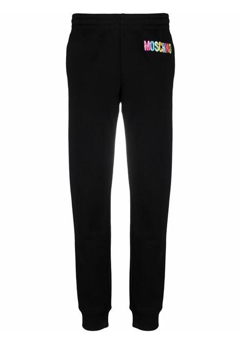 Pantaloni sportivi in nero - donna MOSCHINO | A032354271555