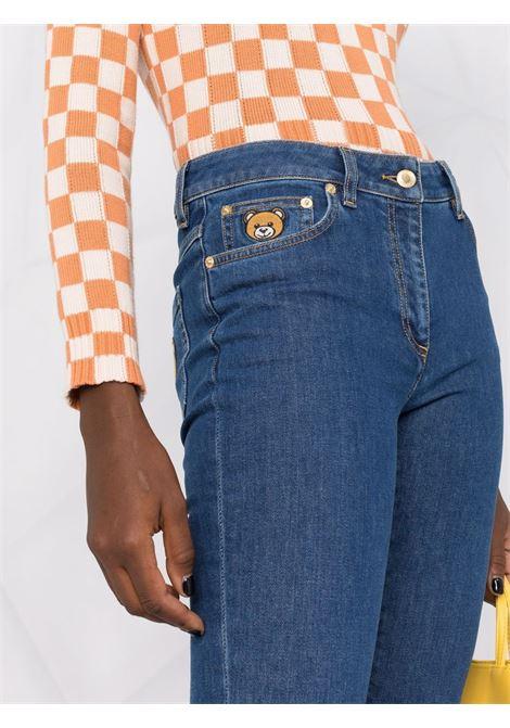 Jeans skinny a vita media in blu - donna MOSCHINO | A03255422343