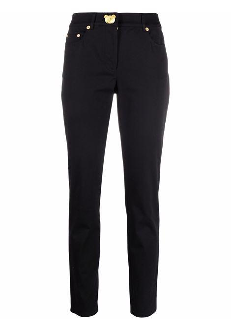 Pantaloni slim cut in nero -donna MOSCHINO   A03425520555