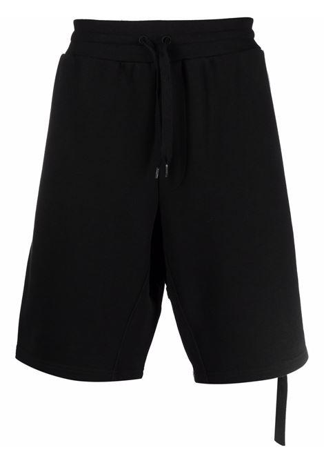 Bermuda sportivi con dettaglio zip laterale nero - uomo MOSCHINO | A03507027555
