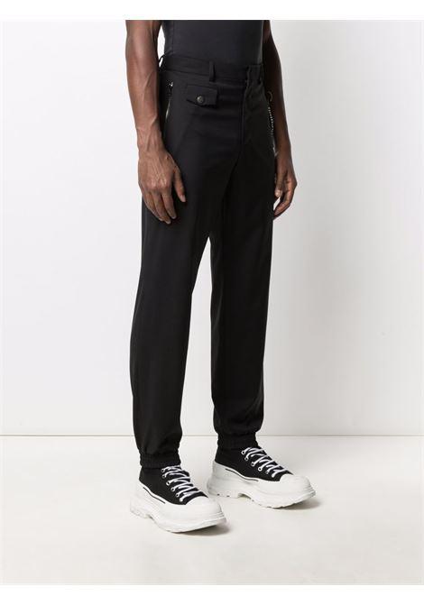 Pantaloni con fascia elastica alle caviglie e logo nero - uomo MOSCHINO | A03517034555