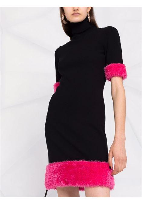 Abito con bordo a contrasto in nero e rosa - donna MOSCHINO | A048055022555