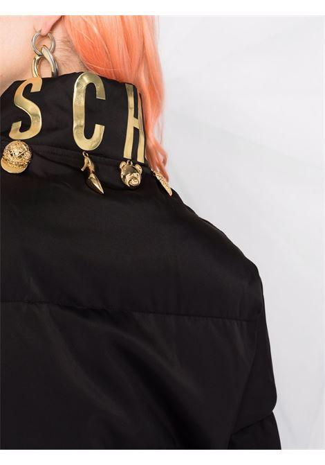 Piumino con cappuccio in nero - donna MOSCHINO | A053154151555